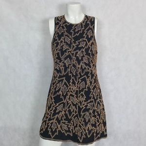 French Connection dress Black Beaded Studs Sz2 NWT